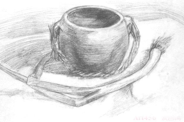 洋葱,黑瓦罐的素描静物教程方法
