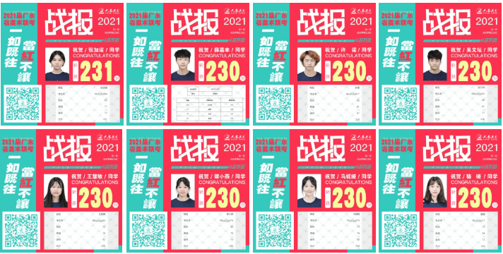 广州美术画室首家实名公布成绩丨2021届人艺美术一如既往,当红不让!图二十九
